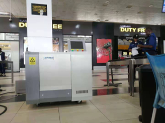 CT X-Ray Machine Well Installed in African Airport for Liquid Security Inspection